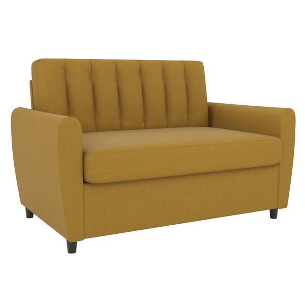 Wondrous Shop Novogratz Brittany Loveseat Sleeper Sofa With Memory Spiritservingveterans Wood Chair Design Ideas Spiritservingveteransorg