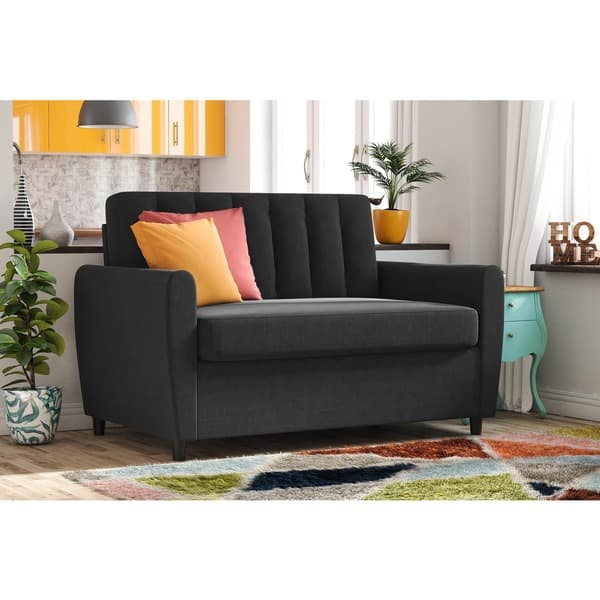Superb Shop Novogratz Brittany Loveseat Sleeper Sofa With Memory Gmtry Best Dining Table And Chair Ideas Images Gmtryco