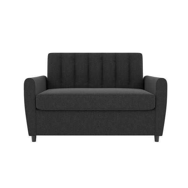 Strange Shop Novogratz Brittany Loveseat Sleeper Sofa With Memory Spiritservingveterans Wood Chair Design Ideas Spiritservingveteransorg