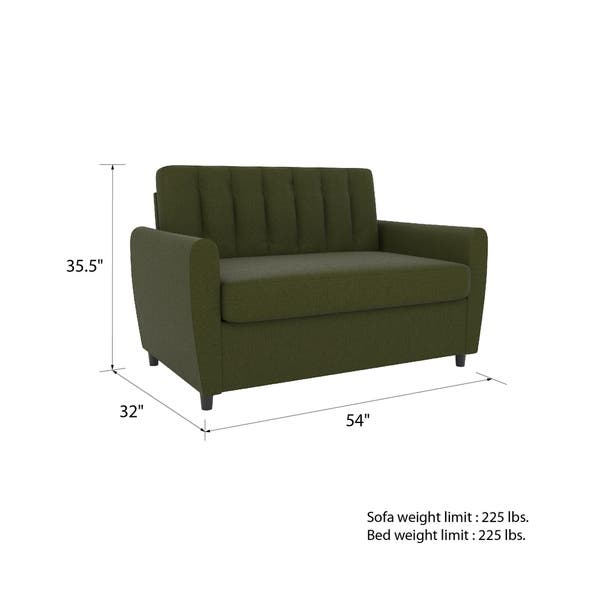 Admirable Shop Novogratz Brittany Loveseat Sleeper Sofa With Memory Caraccident5 Cool Chair Designs And Ideas Caraccident5Info