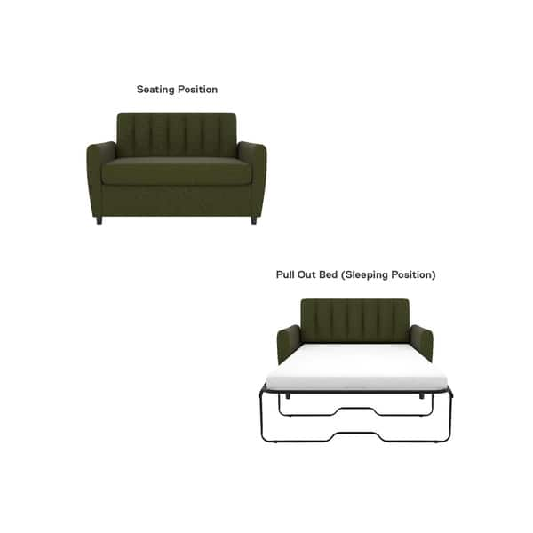 Astounding Shop Novogratz Brittany Loveseat Sleeper Sofa With Memory Gmtry Best Dining Table And Chair Ideas Images Gmtryco