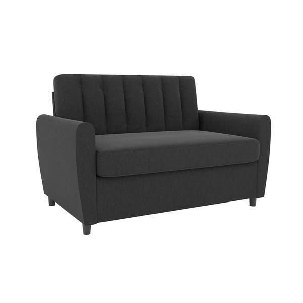 Shop Novogratz Brittany Loveseat Sleeper Sofa With Memory