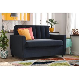Novogratz Britanny Blue Sleeper Sofa