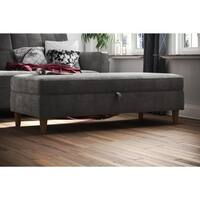 Shop Classic Tufted Storage Bench Ottoman Free Shipping