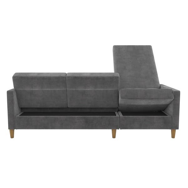 Swell Shop Dhp Hartford Chenille Storage Sectional Futon And Lamtechconsult Wood Chair Design Ideas Lamtechconsultcom