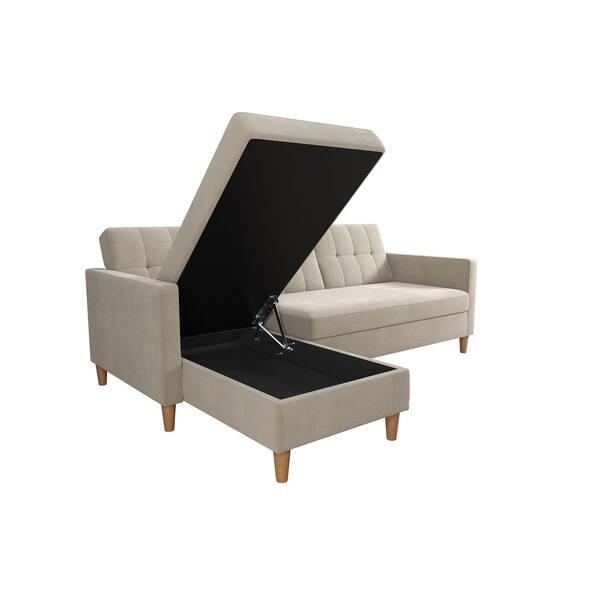 Pleasant Shop Dhp Hartford Chenille Storage Sectional Futon And Lamtechconsult Wood Chair Design Ideas Lamtechconsultcom