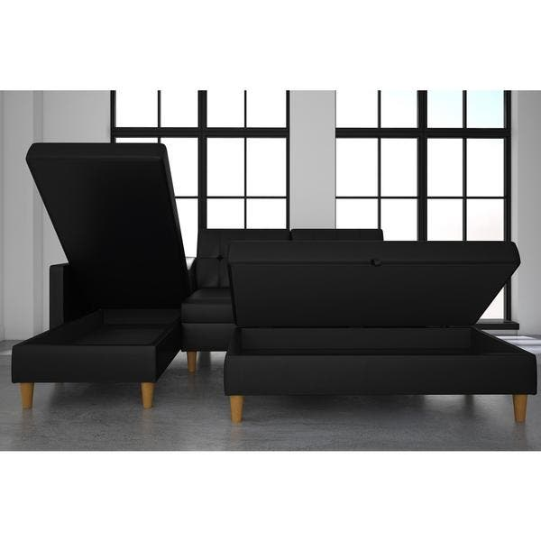 Sectional Futon With Storage Home Design Ideas