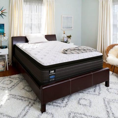 """Sealy 13.5"""" Plush Pillow Top Response Peformance Mattress & Adjustable Base Set"""