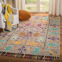 Safavieh Handmade Blossom Grey/ Multi Wool Rug - 3' x 5'