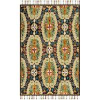 Safavieh Handmade Blossom Charcoal/ Gold Wool Rug - 3' x 5'