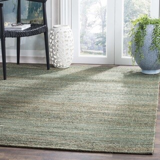 Safavieh Hand-Woven Cape Cod Sage/ Natural Cotton Rug (3' x 5')