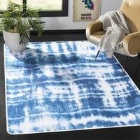 Safavieh Daytona Ivory/ Blue Polyester Rug - 3' x 5'