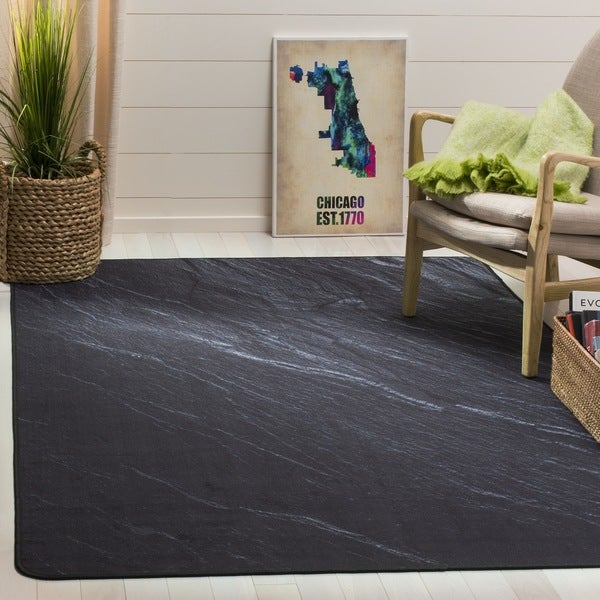 Safavieh Daytona Black Polyester Rug (3' x 5')