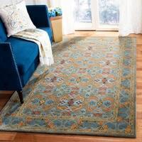 Safavieh Handmade Heritage Sage/ Blue Wool Rug - 3' x 5'