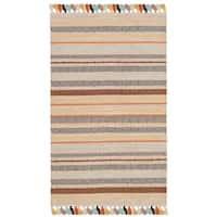 Safavieh Hand-Woven Montauk Beige/ Multi Cotton Rug - 3' x 5'