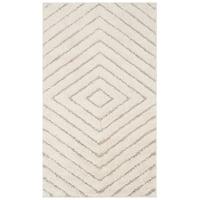Safavieh Olympia Shag Cream/ Beige Polyester Rug - 3' x 5'