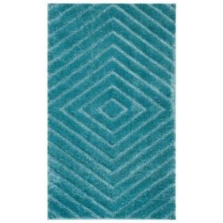 Safavieh Olympia Shag Blue Polyester Rug (3' x 5')