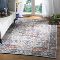 Safavieh Hand-Woven Saffron Bohemian Grey/ Blue Cotton Rug - 3' x 5'