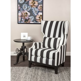 Kosas Home Max Striped Black and White Chair