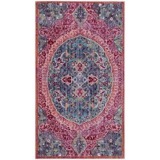 Safavieh Sutton Nilgul Boho Oriental Polyester Rug (3 x 5 - Turquoise/Fuchsia)