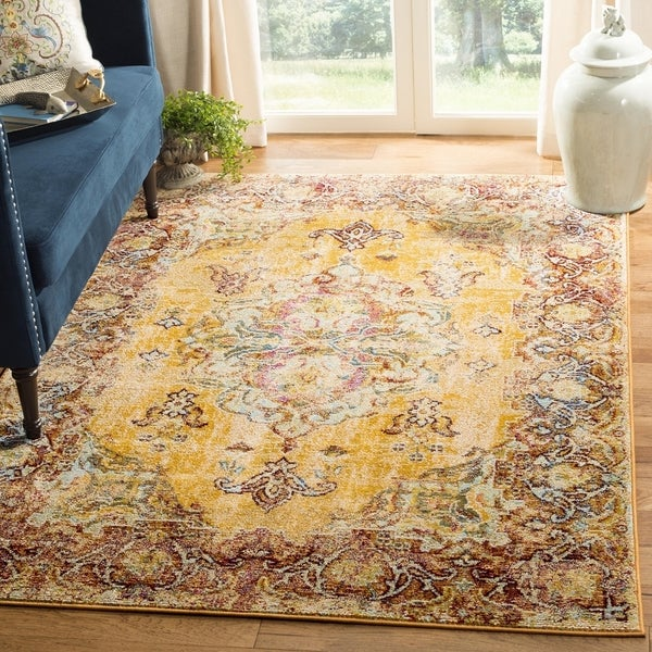 Shop Safavieh Savannah Vintage Medallion Yellow Rust Rug