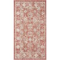 Safavieh Windsor Vintage Red/ Ivory Cotton Rug - 3' x 5'