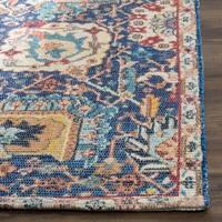 Safavieh Hand-Woven Saffron Bohemian Blue/ Orange Cotton Rug - 3' x 5'