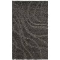 Safavieh Shag Grey/ Grey Rug - 3'3 x 5'3