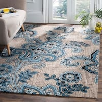 Safavieh Handmade Allure Grey/ Blue Wool Rug - 4' x 6'