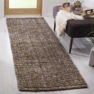 Safavieh Hand-Woven Natural Fiber Natural/ Grey Jute Rug (2'6 x 10')