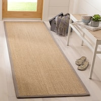Safavieh Natural Fiber Maize/ Grey Sisal Rug - 2'6 x 8'