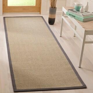 Safavieh Natural Fiber Natural/ Grey Sisal Rug - 2'6 x 8'