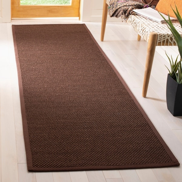 Safavieh Natural Fiber Chocolate Dark Brown Sisal Rug 2 X27 6