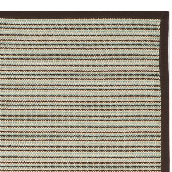 Safavieh Natural Fiber Teal/ Brown Sisal Rug (2'6 x 8')