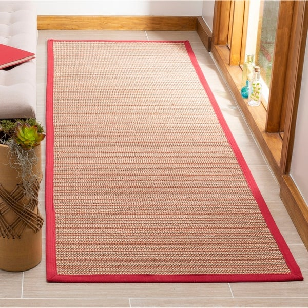 Safavieh Natural Fiber Brown Red Sisal Rug 2 6 X 8