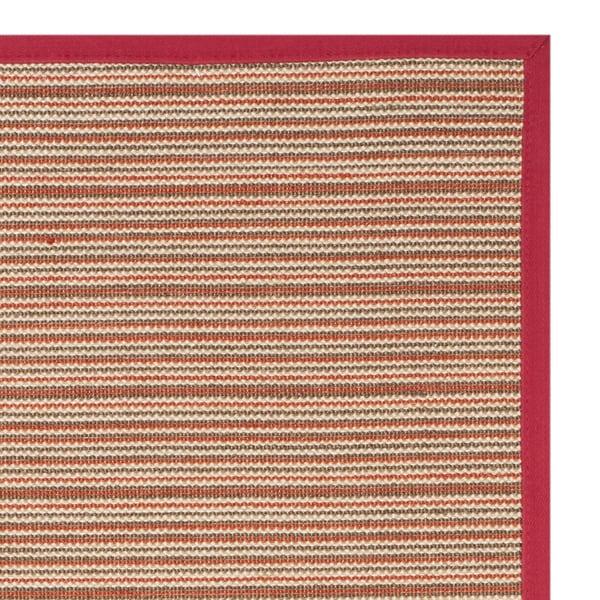 Safavieh Natural Fiber Brown/ Red Sisal Rug - 2'6 x 8'