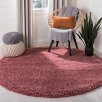 Safavieh California Cozy Plush Shag Rose Rug - 6'7 Round
