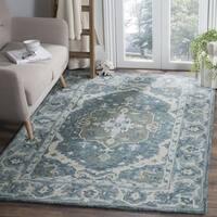 Safavieh Handmade Aspen Dark Blue/ Grey Wool Rug - 4' x 6'