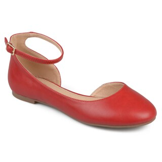 Journee Collection Women's 'Astley' Wide Width D'orsay Ankle Strap Round Toe Flats (More options available)