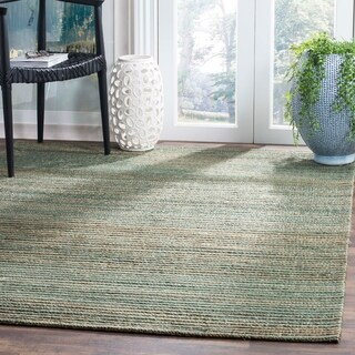 Safavieh Hand-Woven Cape Cod Sage/ Natural Cotton Rug (4' x 6')