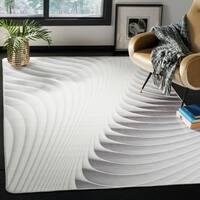 Safavieh Daytona Light Grey/ Ivory Polyester Rug - 4' x 6'