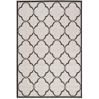 Safavieh Linden Light Grey/ Charcoal Rug - 4' x 6'