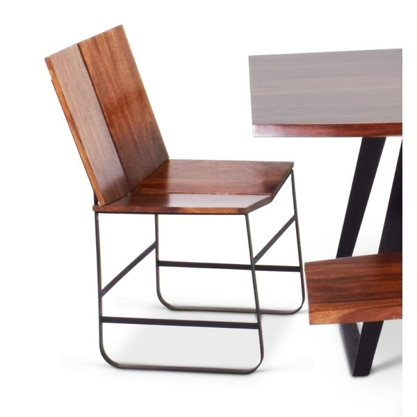 Barth Chestnut Finish Sheesham Wood Dining Chairs (Set Of 2) By Greyson  Living