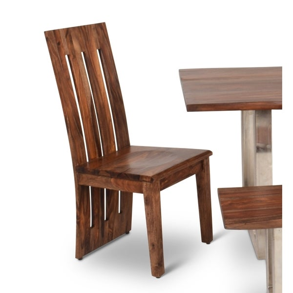Rania Sheesham Wood Dining Chairs (Set of 2) by Greyson Living -  42 inches high x 18 inches wide x 18 inches deep