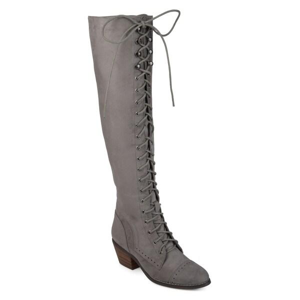 140684082e8 Shop Journee Collection Women s  Bazel  Regular and Wide Calf Brogue ...