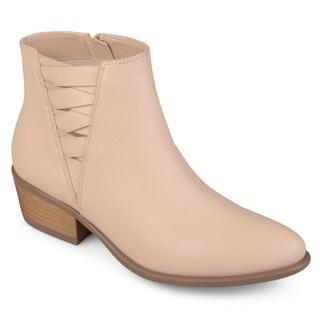 Journee Collection Women's 'Estell' Almond Toe Stacked Heel Booties