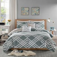 Intelligent Design Jaymie Grey Printed 5-piece Comforter Set