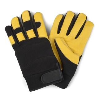 Vance Co. Men's Genuine Leather Mechanic Work Gloves