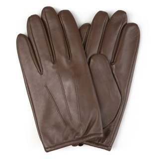 Vance Co. Men's Genuine Leather Lined Driving Gloves