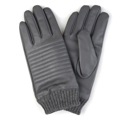 Vance Co. Men's Genuine Leather Knit Cuff Lined Gloves
